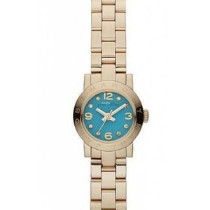 Marc Jacobs Blue Small Face Diamond Gold Watch